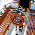 The cockpit. Lots of lovely mahogany.
