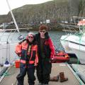 Rhea and son in Iceland - read about the voyage in Part III of DAGNY ROCKS