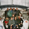 My core crew on many past cruises. All but two are certified skippers today. We sail together at least once each year.    Bavaria 49  Trogir, Croatia